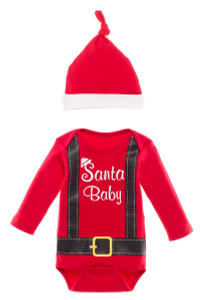 Santa Baby 2pc Christmas Outfit for Babies
