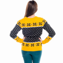 Women's Boston Bruins Ugly Christmas Sweater 2016 NHL (Back)