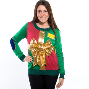 Wrapped in a Bow Ugly Christmas Sweater 2