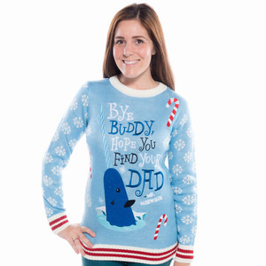 Bye Buddy Narwhal Ugly Christmas Sweater Elf
