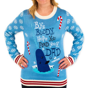 Bye Buddy Mr Narwhal Ugly Sweater Elf the Movie
