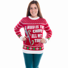 Why is the Carpet All Wet Todd Christmas Sweater Front