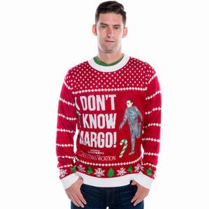 Men's Christmas Vacation I Don't Know Margo Sweater Front