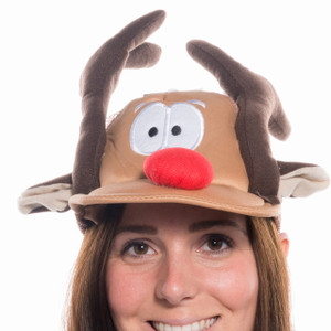 Rudolph Trucker Hat Front View