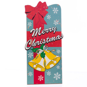 """Merry Christmas"" Wooden Sign with Stand"
