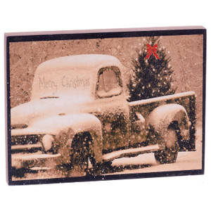 Vintage Truck Christmas Wall Art