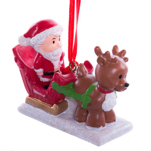 Little People Santa Ornament
