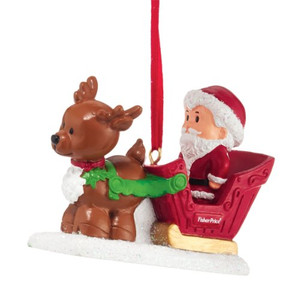 Fisher Price Little People Santa Sleigh Ornament