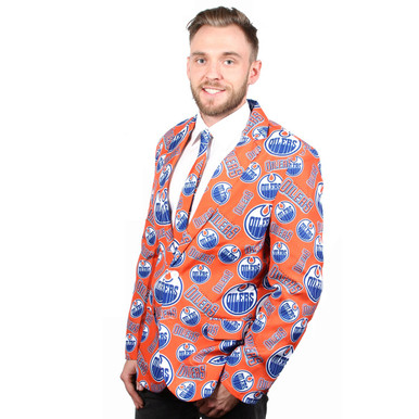 Edmonton Oilers Nhl Ugly Suit Jacket And Tie Retrofestive Ca