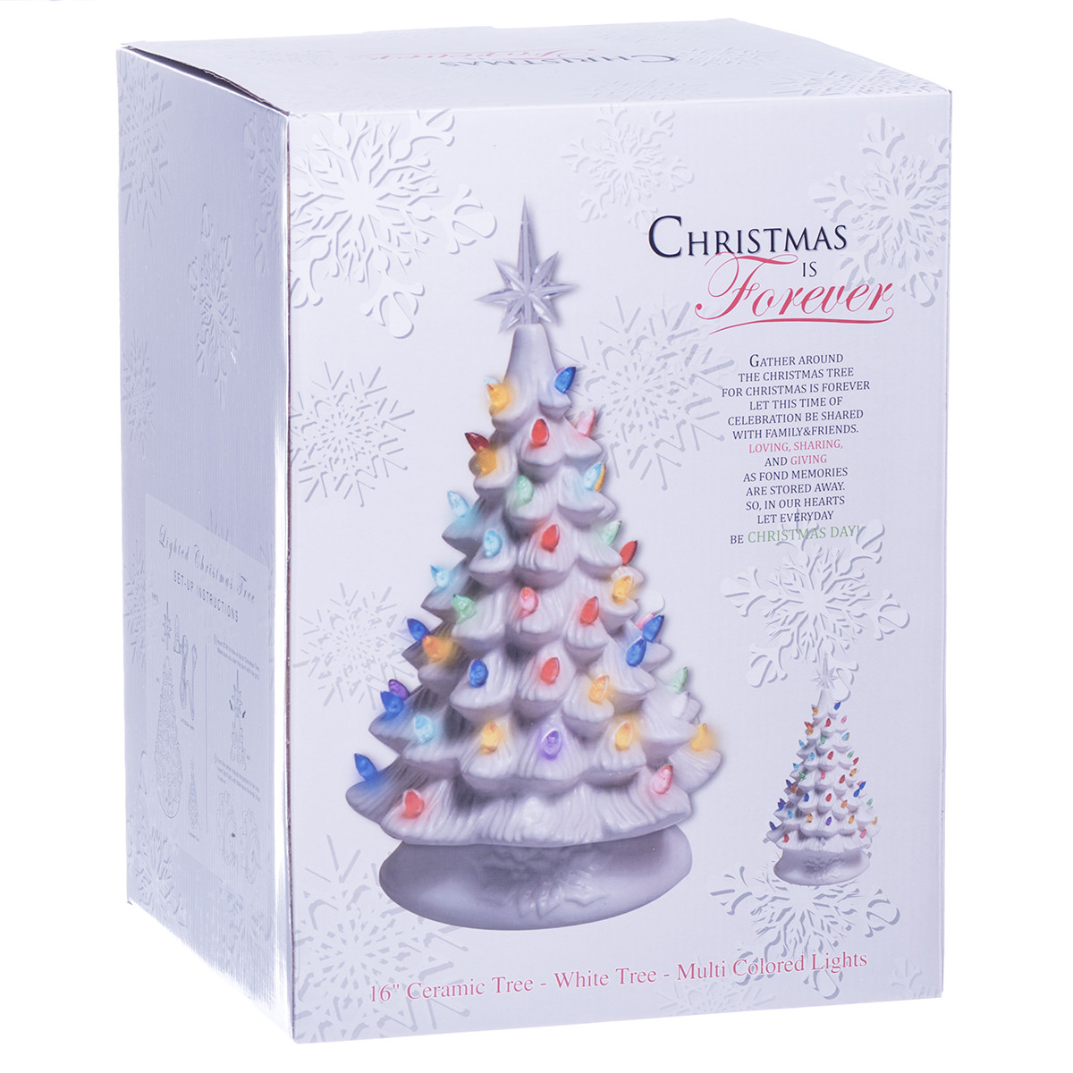 latest white ceramic christmas tree w lights boxed with ceramic christmas tree lights - White Ceramic Christmas Tree