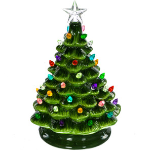 Battery-operated ceramic Christmas tree