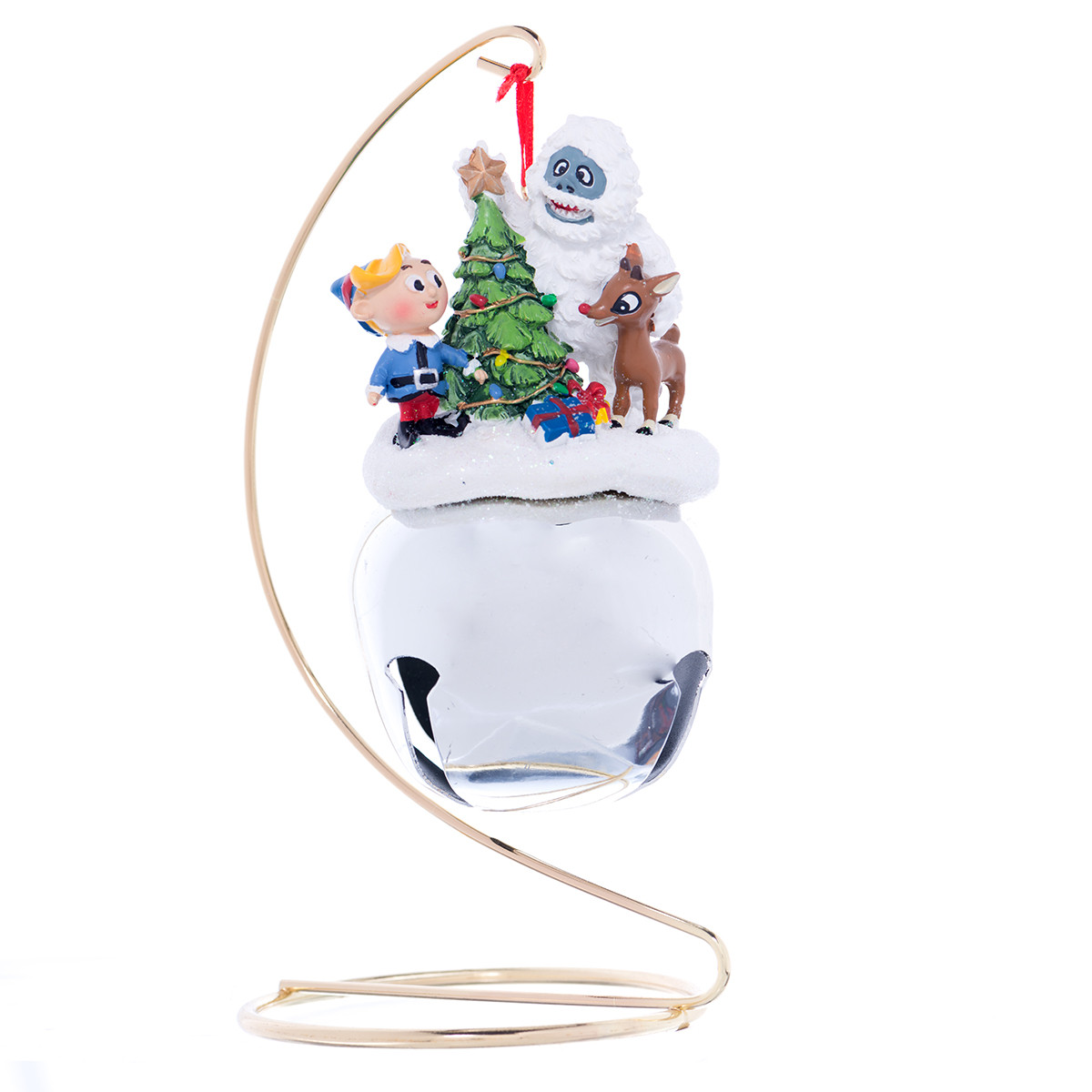 Rudolph friends jumbo jingle bell ornament stand