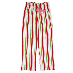 Women's Holiday Stripes Flannel Pajama Pants
