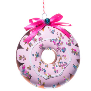 Chocolate Donut Ornament