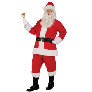 Deluxe Flannel Santa Costume