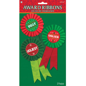 Ugly Sweater Party Contest Award Ribbons