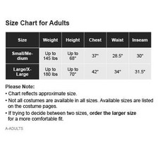 Amscan Sweater Size Chart