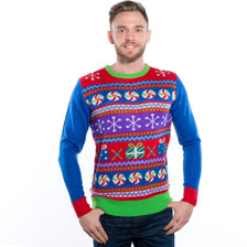 Sweet Stripe Ugly Christmas Sweater