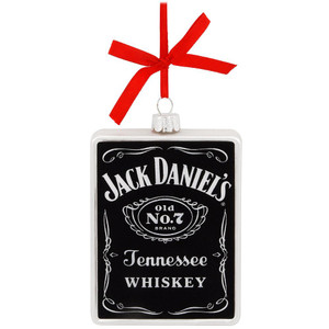 Jack Daniel's Label Glass Ornament