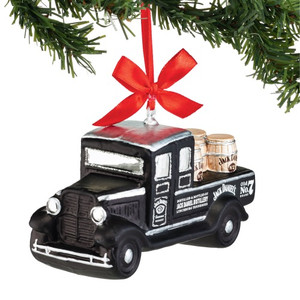 Jack Daniel's Truck Glass Ornament