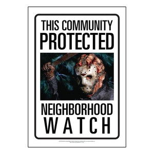 Protected by Jason Friday the 13th Tin Sign