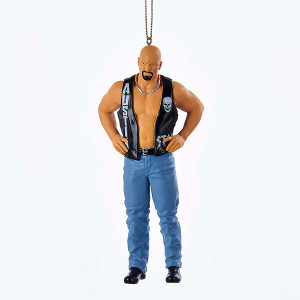 "WWE ""Stone Cold"" Steve Austin Christmas Ornament"
