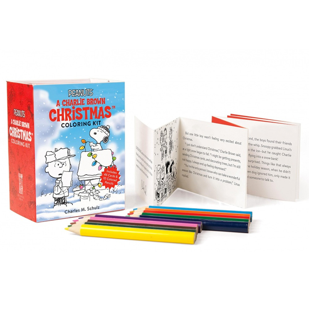 Peanuts: A Charlie Brown Christmas Coloring Kit