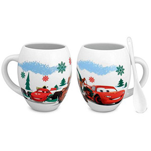 Disney Cars Hot Chocolate Mug With Spoon