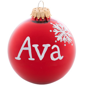 Personalized Name Ball Christmas Ornaments
