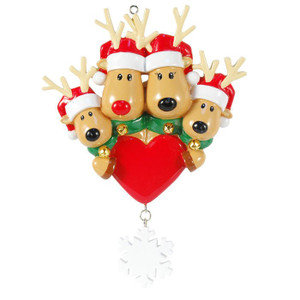 Reindeer Family Personalized Ornament 4