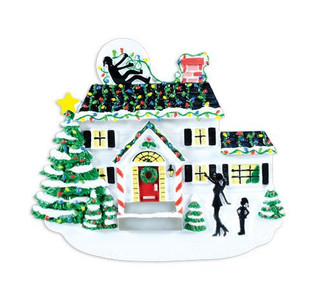 Griswold House with Lights Personalized Ornament
