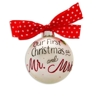 Our 1st Christmas As Mr. & Mrs. Personalized Ornament