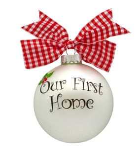 Our First Home Personalized Glass Ball Ornament