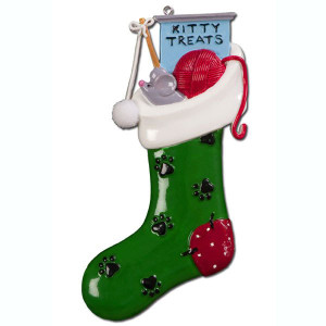 Kitty Stocking Personalized Ornament