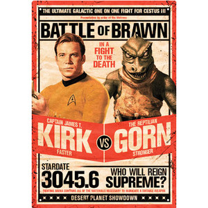 Star Trek Kirk vs. Gorn Tin Sign