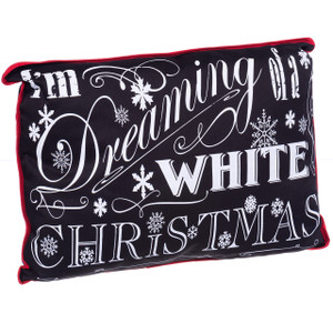 """I'm Dreaming of a White Christmas"" Throw Cushion"