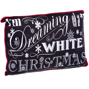 """I'm Dreaming of a White Christmas"" Throw Cushion"