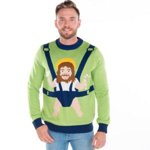Baby Jesus Ugly Sweater - Men Front