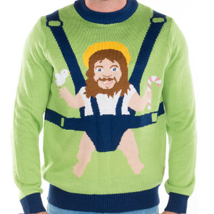 Baby Jesus Ugly Sweater crop