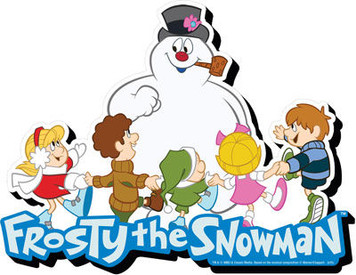 Frosty with Kids Chunky Magnet