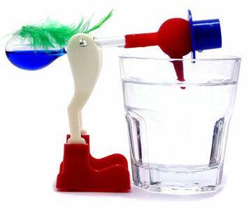 Lucky Drinking Bird Water Glass