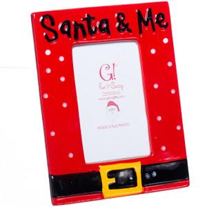Santa & Me Picture Frame