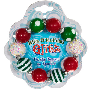 Bitz o' Glitz Beaded Christmas Bracelet - package