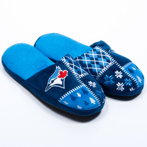 Toronto Blue Jays Ugly Sweater Slippers