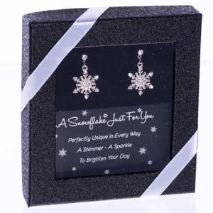 Rhinestone Snowflake Earrings