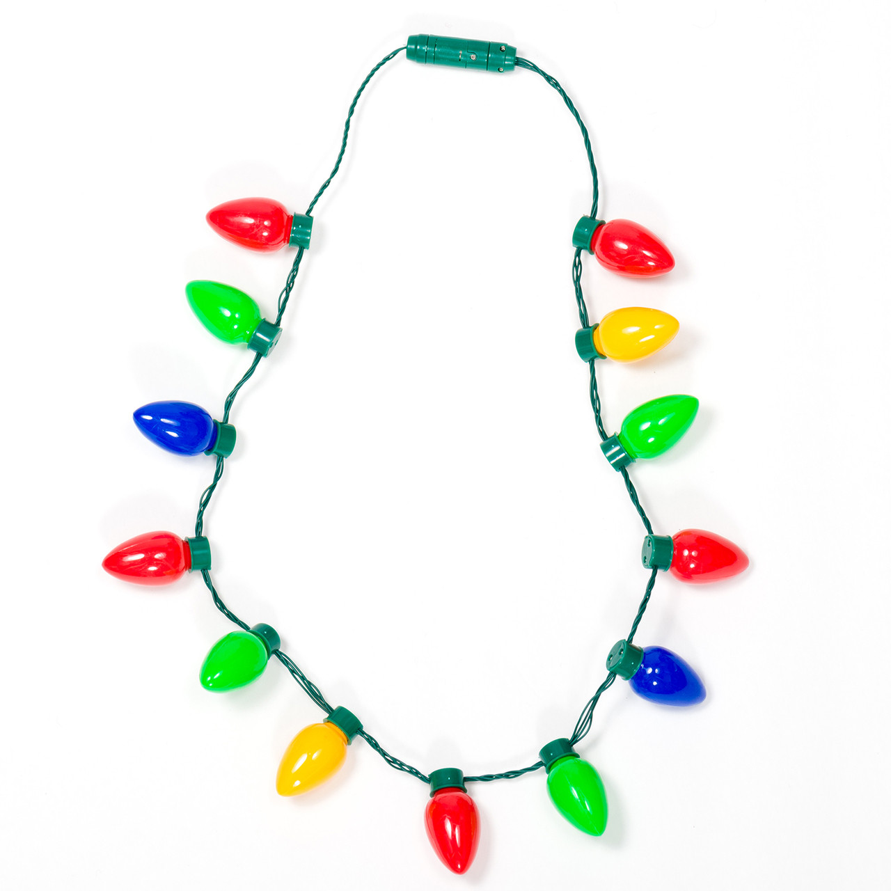 Blinking Christmas Light Necklace