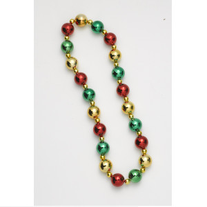Jumbo Beaded Christmas Necklace for Ugly Sweater
