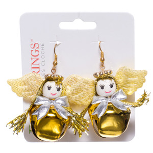 Kitsch Christmas Bell Earrings Angels