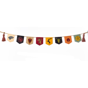 Game of Thrones Christmas Tree Garland Banner Decoration