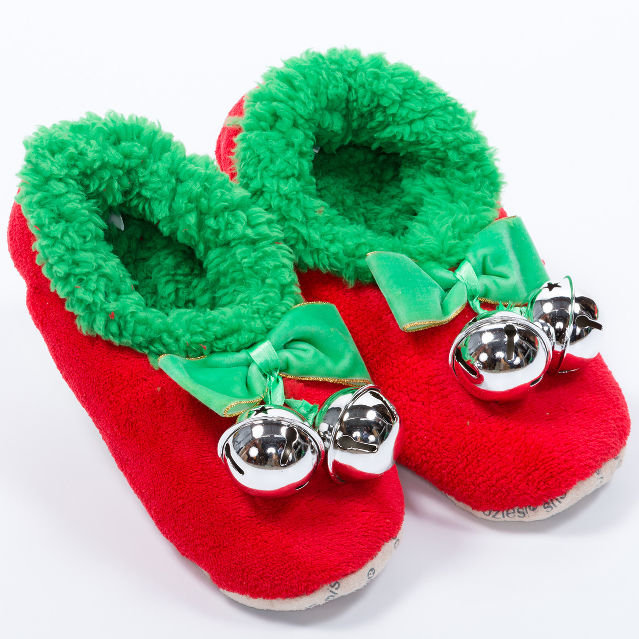 Sleigh bell snoozies women s christmas slippers